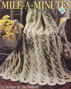 Crochet Mile-A-Minute Afghan Crochet Patterns 12 Designs
