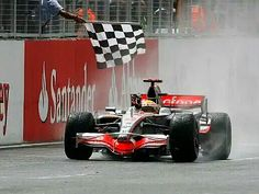 2008 British GP - Lewis Hamilton made a sensational drive through the rain while his title rival Felipe Massa pirouetted more times than an ice skater. No Brit had won at Silverstone since David Coulthard in 2000, but Hamilton put this right and won by more than a minute as the crowd went beserk. #F1 #Formula1 #BritishGP #Silverstone #LewisHamilton #McLarenMercedes