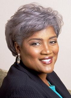 Donna Brazile - another woman who looks great with her grey hair.