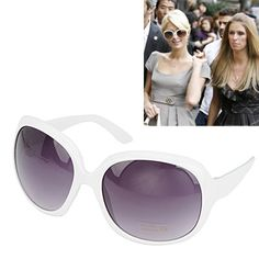 Puritan With White Frame Fashion Big Frame Design Plastic Sunglasses,Priced At Only US  $1.27.