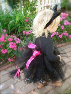 Girls Black Cat Tutu Halloween Costume
