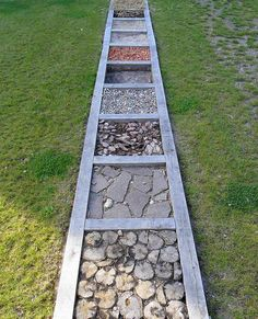Barefoot Parks and Sensation Paths – Playscapes (I love the idea of having such … – natural playground ideas Outdoor Learning Spaces, Outdoor Play Areas, Outdoor Fun, Natural Play Spaces, Preschool Playground, Toddler Playground, Sensory Garden, Sensory Play, Backyard Play