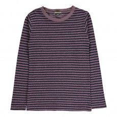 Toto Striped T-shirt Pink
