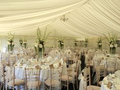 A stunning wedding breakfast setting in our marquee Breakfast Set, Wedding Breakfast, Twinkle Star, Twinkle Twinkle, Chandelier, Ceiling Lights, Table Decorations, Black And White, Amazing
