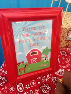 Sign from a Farm Party #farm #party