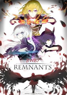 """RWBY: Remnants is an original short series written in honor of Monty and his legacy. Set in an alternate reality after an incident called ""The Fall"", the entire world of Remnant was purged into. Manga Anime, Rwby Anime, Rwby Fanart, Anime Art, Full Metal Alchemist, Log Horizon, Teen Titans, Red Like Roses, Blake Belladonna"