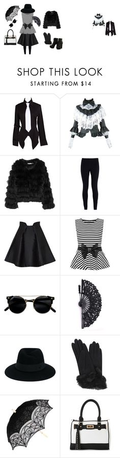 """Gothic modern elegance"" by modern-gothic-rose on Polyvore featuring Alice + Olivia, NIKE, Paper London, WearAll, Maison Michel, Carolina Amato, IMoshion and modern"