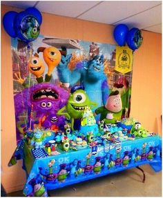 Monsters Inc Decorating Ideas Monster University Birthday, Monster 1st Birthdays, Monster Birthday Parties, Boys 1st Birthday Party Ideas, Kids Birthday Party Invitations, 1st Boy Birthday, Monster Inc Party, Monsters Inc Baby Shower, Party Monsters