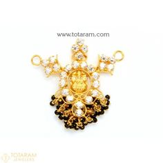 Gold Pendants - View and shop our collection of gold pendants made in India - Indian Gold Jewelry - Buy Online Gold Mangalsutra Designs, Gold Earrings Designs, Necklace Designs, Quartz Jewelry, Gold Jewelry, Beaded Jewelry, Gold Necklace, Indian Gold Jewellery Design, Jewelry Design