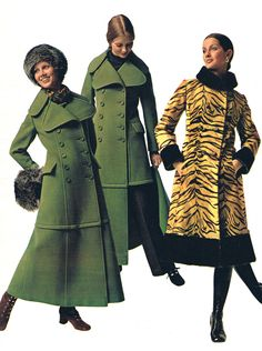 Montgomery Ward Catalog, 1971: Midi Coats - I got a dark blue one for Christmas like the ones on the left. It had a zipper (shown in the middle picture) that allowed you to go from midi coat to a regular coat. Always kept mine on midi though. lol