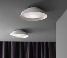Contemporary ceiling light / round / glass / compact fluorescent BOOP! by Dani Vila / Ester Pujol Carpyen,