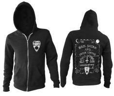 Men's cotton polyester zip up hoodie Dark Fashion, Coffee Drinks, Hoodies, Sweatshirts, Satan, Shirt Style, Zip Ups, Cotton, Jackets