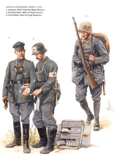 German uniforms WWI, spring offensive 1918.