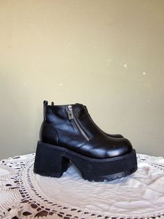 90's SODA spice girls black goth platforms chunky by foxandfawns, $79.00