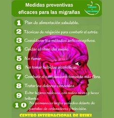 ► MIGRAÑAS - Medidas Preventivas.... Leer mas en Found on facebook.com (arriba-izquierda)