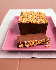 Frozen Peanut Butter, Chocolate, and Banana Loaf   Martha Stewart Living - Serve this yummy sweet as soon as it's ready or save them for a rainy day.