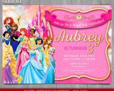Disney Princess & The Knight Invitation  Disney Princesses