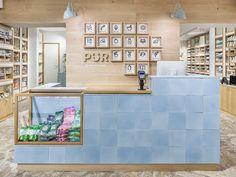 Interior design by Bond for Finnish health store PÜR #negozi #architettura #design