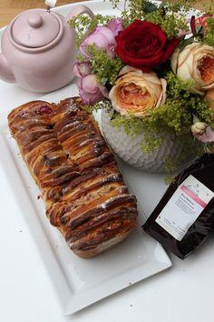 eckeren Früchtetee Birne Himbeere Pull-apart Cake