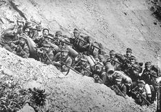 Italian soldiers in the Alps where they fought the Austrians.