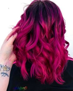 Lace Frontal Wigs Pink Blonde Hair Dip Dyed Pink For Girl – Balayage Haare Cute Hair Colors, Hair Dye Colors, Ombre Hair Color, Cool Hair Color, Magenta Hair Colors, Fuschia Hair, Vivid Hair Color, Violet Hair, Lilac Hair