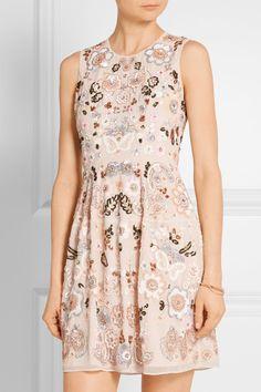 Pastel-pink chiffon Concealed zip fastening along back 100% polyester Dry clean Designer color: Ballet Pink