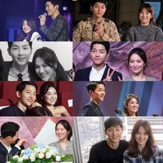 of the sun joong ki hye kyo Korean Celebrity Couples, Korean Celebrities, Korean Actors, Songsong Couple, Best Couple, Desendents Of The Sun, Descendants Of The Sun Wallpaper, Song Joong Ki Birthday, Couple