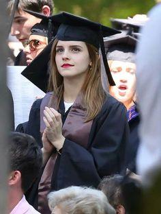 Emma graduated from muggle university :)