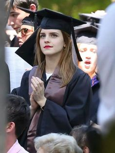 Emma graduated from muggle university :)