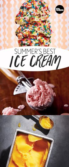 Summer's Best Ice Cream | MyRecipes.com  Pull out those ice cream scoops, it's about to get tasty! You don't need an ice cream maker for all of these recipes, that way everyone can join in on the homemade ice cream goodness!