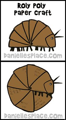 Roly Poly Paper Craft for Kids from www.daniellesplace.com