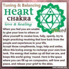 Balancing of heart chakra