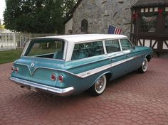 1961 Chevrolet Impala Nomad - I don't know if it's even close, but it reminds me of Aunt Harriet's station wagon.