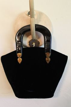 vintage velvet graceline purse with gold hinges by brolliarfound, $25.00
