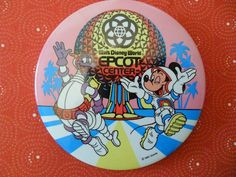 Figment & Mickey EPCOT Center Button