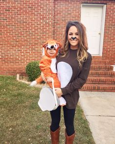 Fox and The Hound Halloween costumes. Tod and copper Halloween costumes. mommy and baby & Mom and son Halloween costume | Jaxon Roy | Pinterest | Halloween ...