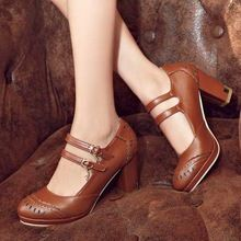 groot formaat 34 tot 43 galdiator dikke hoge hakken voet terug bandjes ongedwongen bruiloft schoenen voor vrouwen ronde neus platform pompen(China (Mainland))