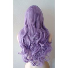 Pastel wig. Lavender wig. Pastel light purple Long curly volume hair... ($90) ❤ liked on Polyvore featuring beauty products, haircare, hair styling tools, hair, hairstyles, wigs, makeup and curly hair care