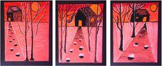 Haunted Houses - Elementary Art Lesson for Kids