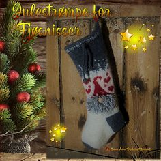 Tovet julestrømpe for fjøsnisser. Needles Sizes, Felting, Ravelry, Christmas Stockings, Stitch, Knitting, Holiday Decor, Projects, Pattern
