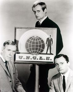 """The Man From U.N.C.L.E."" cast: Leo G. Carroll, David McCallum, and Robert Vaughan (1964)"