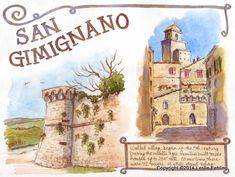 Everyday Artist: Sketchbook Journeys - Italy: Day 13 (San Gimignano)