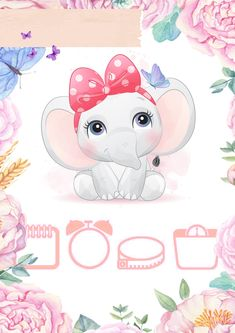 Baby Cartoon Drawing, Baby Drawing, Baby Clip Art, Baby Art, Baby Elephant Nursery, Cute Little Baby Girl, Baby Posters, Baby Frame, Baby Fabric