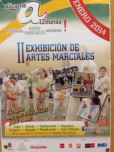 Póster Alicante 12 Metas / Exhibición Artes Marciales