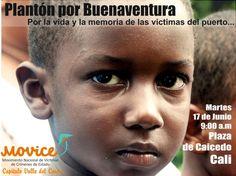 Plantón por las víctimas del Pacífico Colombiano en Cali