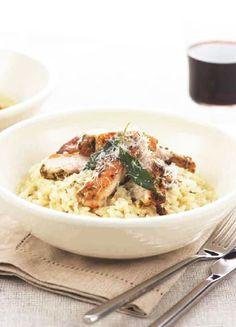Low FODMAP & Gluten free Recipe -  Roast chicken risotto http://www.ibssano.com/low_fodmap_recipe_roast_chicken_risotto.html