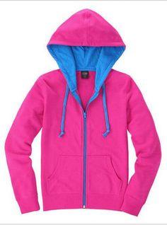 Rose Red Cardigan zipper Hooded Sweatshirt$43.00