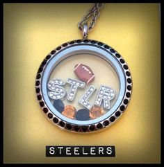 For the Football Fans!!! Create YOUR CUSTOM TEAM LOCKET TODAY!! For me? I'm choosing PS4L, a football, Swarovski Crystal Charms in my Team Colors, a heart, and a helmet. ~Trish #steelers #football #team #sports #charm #locket #origami owl