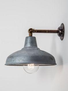 designer wall light brass galvanised shade , £183.96 (Inc. VAT & Delivery