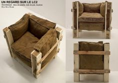 Sessel-Design mit Recycling-Produkte gemacht
